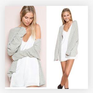 Brandy Melville cardigan one size light gray